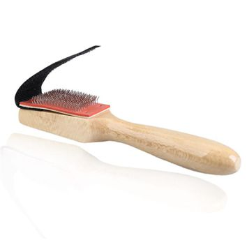 Men Women Wood Suede Sole Wire Shoe Brush Cleaners Dance Shoes Cleaning Brushes Brush for Footwear
