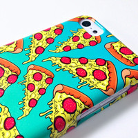 PIZZA iPhone Case, PIZZA iPhone 5c case, Simpsons iPhone 5c case, 90s illustration, pizza iphone case, meme iphone 5 case, awesome cell case