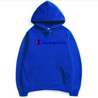 PEAPNV Champion couple sets the head sweater couple models Plus velvet hooded sweater simple printing class service