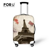 Design Elastic Dust Cover For Travel Case France Paris Eiffel Tower Style Luggage Protective Covers For 18 - 30 Inch Suitcase