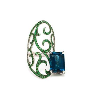 DIONEA ORCINI | Tsavorite and Topaz Ring | Browns fashion & designer clothes & clothing