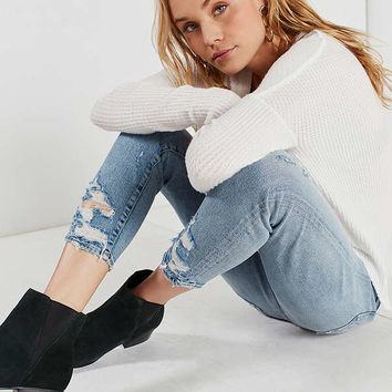 AGOLDE Sophie High-Rise Distressed Cropped Skinny Jean – Vertigo | Urban Outfitters