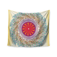 "Famenxt ""Confetti Dots Mandala"" Multicolor Abstract Wall Tapestry"