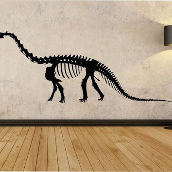 Dinosaur Wall Decal Sticker Art Decor Bedroom Design Mural interior design Science Education Art educational animals  Sauropod kids room