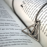 1 Inch Deathly Hallows Pendant - Stainless Steel