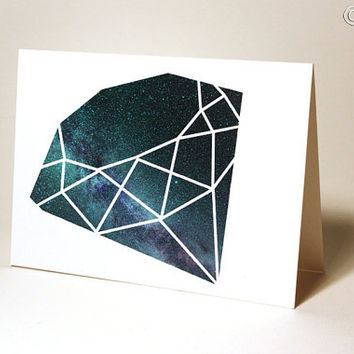 Milky Way Diamond Card