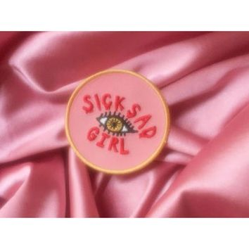 """HOME :: Pins & Patches :: PATCHES :: Sick Sad Girl 2.5"""" Embroidered Iron On Patch"""