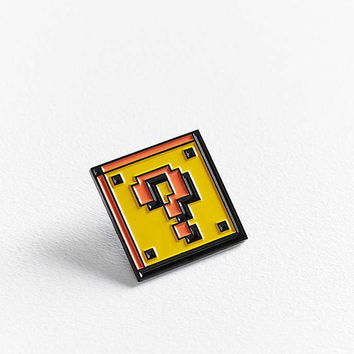 Yesterdays Question Block Pin - Urban Outfitters