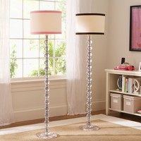 De-Lite Floor Lamp + Ribbon Trim Shade
