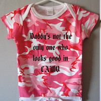 Funny baby Onesuit daddys not the only one who by WildWolfWearables