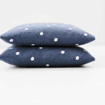 Indigo Blue Lavender Sachets, Scented Drawers, Polka Dot Pillow Sachets, Birthday Gift for Her