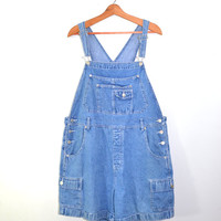 Denim Short Overalls Bib Overalls Denim Overalls Denim Shorts Overalls Blue Denim Bib Overalls Shortalls Size 20 W Plus Size