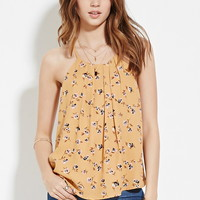 Pleated Floral Cami