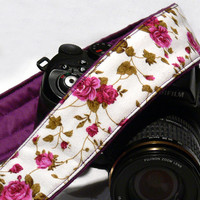 Floral Camera Strap. dSLR Camera Strap. Canon Camera Strap. Women Accessories.