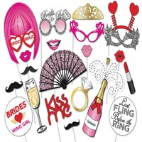 LeadingStar novelty Toys Photo Booth Props Party for Bachelorette Party with Fan Champagne Night Games Accessories Favors DIY