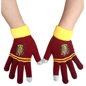 Harry Potter Ravenclaw /Gryffindor/Hufflepuff Warm Costume Touch Glove New costume accessory christmas gift for adult- Best Christmas Gift