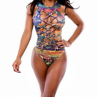 Fashion Womens Bandage Cut Out Swimsuit Swimwear Bathing