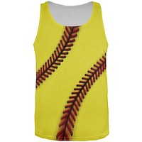 Fastpitch Softball All Over Mens Tank Top