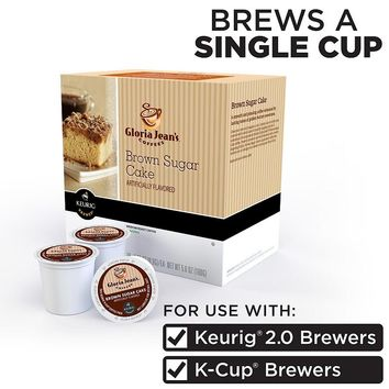Keurig K-Cup Pod Gloria Jean's Coffees Brown Sugar Cake Coffee - 18-pk.