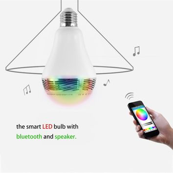 LED Bulb Bluetooth Smart Lighting Lamp Colorful Speaker