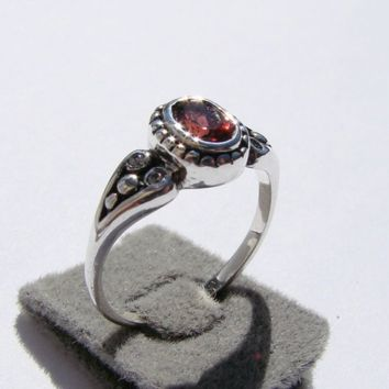 Nouveau Styled Sterling Silver Ring by Firefallstudios on Etsy