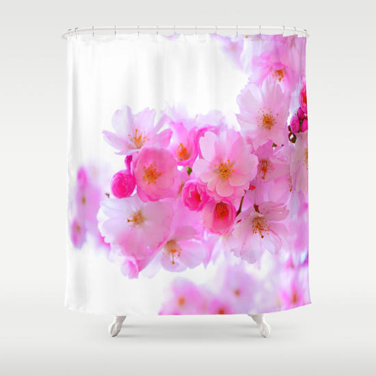 Cherry tree blossom shower curtain by from society6 shower