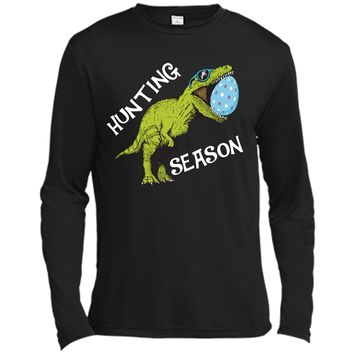 Hunting Season Easter Shirt Toddler with Dinosaur Graphic Long Sleeve Moisture Absorbing Shirt
