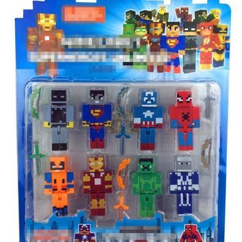 Star Wars Force Episode 1 2 3 4 5 Minecraft Avengers Hero Iron Men Captain America Hulk Overworld Hangers Accessories Toys  Darth Vader Building Blocks AT_72_6