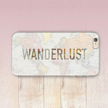 Wanderlust Quote Phone Case  - iPhone 6 Case - iPhone 5 Case - iPhone 4 Case - Samsung S4 Case - iPhone 5C - Tough Case - Matte Case