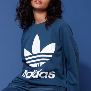 adidas Adicolor Blue Oversized Sweatshirt at PacSun.com