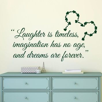 Mickey Mouse Quote Wall Decal Removable Kids Room Wall Sticker Mickey Mouse Ears Poster Home Bedroom Decor Wall Art Mural AY043