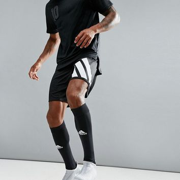 adidas Soccer Training Shorts With 90s Print In Black AZ9711 at asos.com