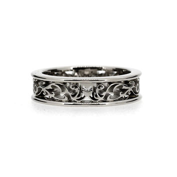 Size 6.5, filigree wedding band, white gold lace ring, filigree ring, wedding ring, simple, engagement ring, promise ring, unique ring