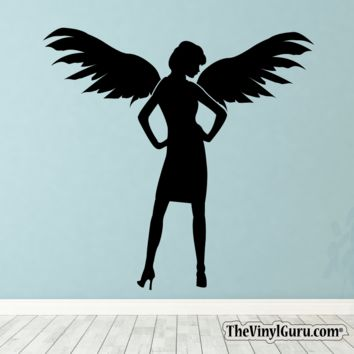 Sexy Angel Pin-Up Girl Wall Decal VII