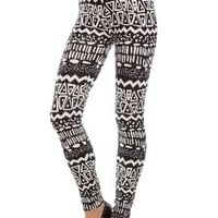 Amour- Women Popular Animal Pattern Ankle Length Footless Legging Tregging Tight (Black GYPSY Funky)