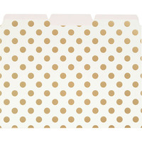 kate spade new york Gold Dots File Folders