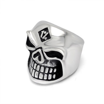Jewelry New Arrival Shiny Gift Vintage Strong Character Stylish Relief Sculpture Skull Ring [6544879363]