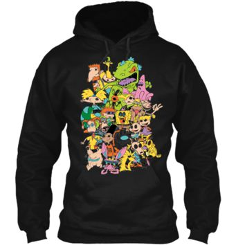 Nickelodeon Complete Nick 90s Throwback Character  Pullover Hoodie 8 oz