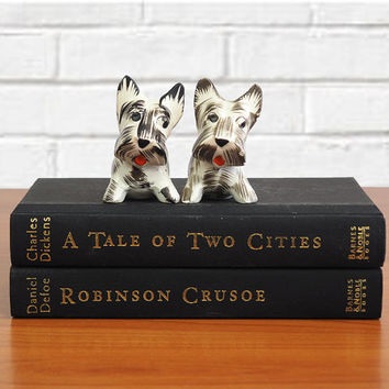 Vintage Scottie Dog Salt & Pepper Shakers | Made in Japan