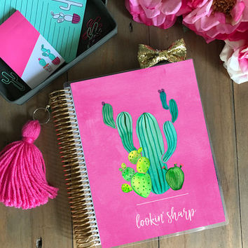 Original Stylish Planner Cover Set - Cactus: For use with Erin Condren Life Planner(TM), Happy Planner and Recollections Planner