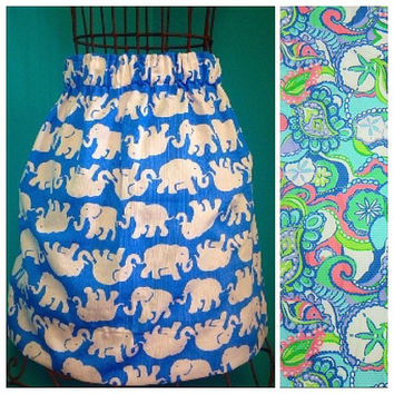 Custom Lilly Pulitzer Conch Republic Skirt