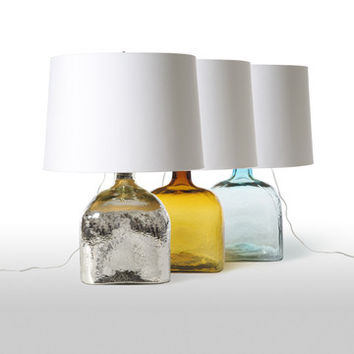Square Wave Glass Table Lamp design by Barbara Cosgrove