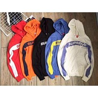 Supreme 5 Colors Patchwork Knit Hoodies Sweatershirt [11555860620] I