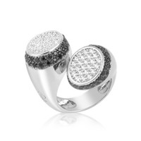 Azhar Designer Rings Black and White Contrarie' Ring