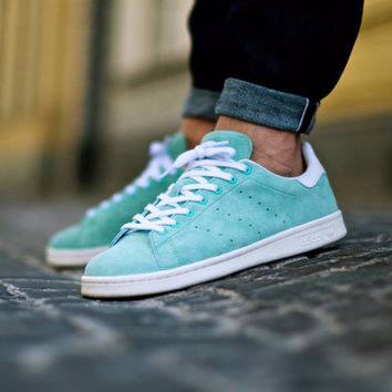 """Adidas Stan Smith Suede """"Mint Green""""-D67364"""