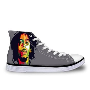 Man's and wuman's Reggae Star Bob Marley Running Shoes Anti-slip Outdoor Wear-Resistant Sport SneakersS01