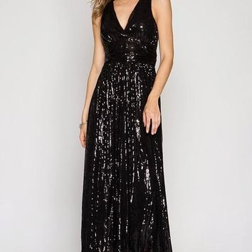 Take It Over Sequin Maxi Dress