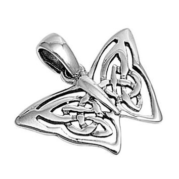 Sterling Silver Celtic Knot Butterfly pendant