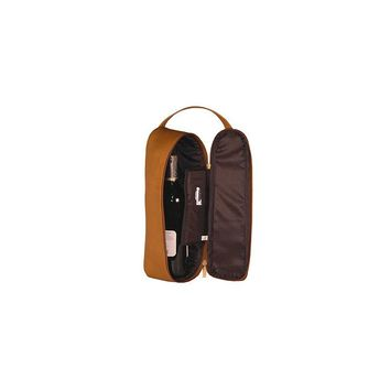 David King Single Travel Wine Bottle Carrier (Tan)