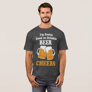 Drinking Beer Funny Mens T Shirt Billy Currignton